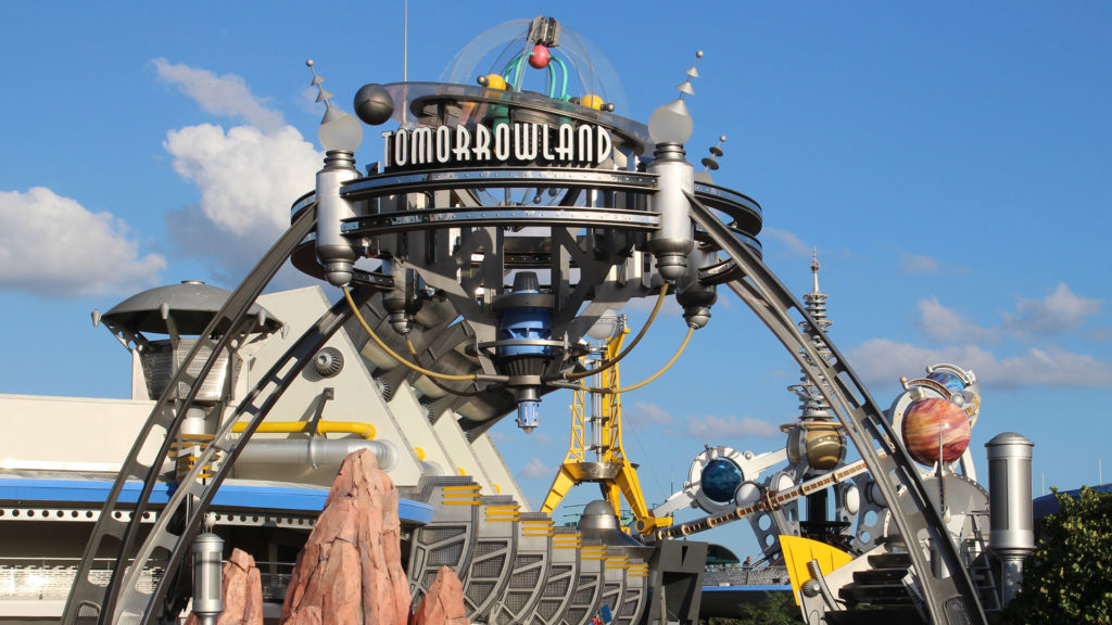 Magic Kingdom Tomorrowland Sign 2015