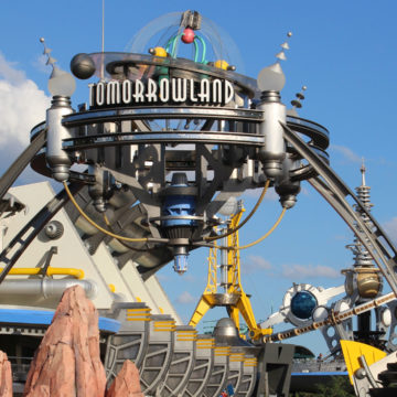 Magic Kingdom Tomorrowland Sign 2015